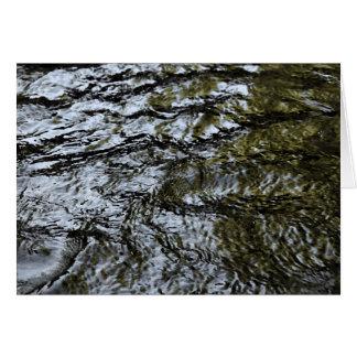 Cartão Água de fluxo/cartão abstrato