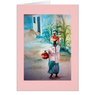 Cartão Água do carregando
