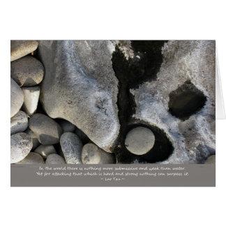 Cartão Água e pedra
