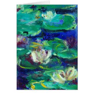 """Cartão """"Água Lillies"""" como Claude"""