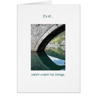 Cartão Água sob a ponte, em Montenegro