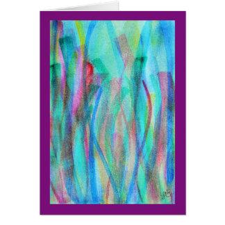 Cartão Aguarela abstrata vívida