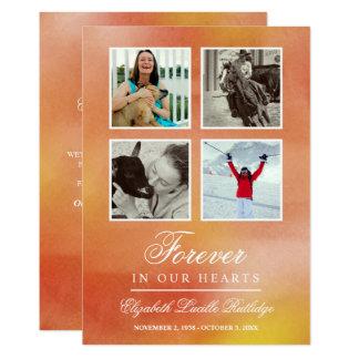 Cartão Aguarela alaranjada vibrante - para sempre em