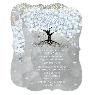 Cartão Aguarela azul da árvore da folha do coração do