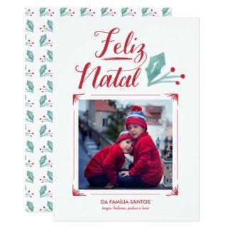 Cartão Aguarela & Caligrafia | Feliz natal