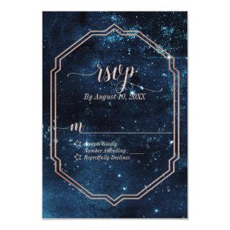 Cartão Aguarela celestial da galáxia do céu da estrela