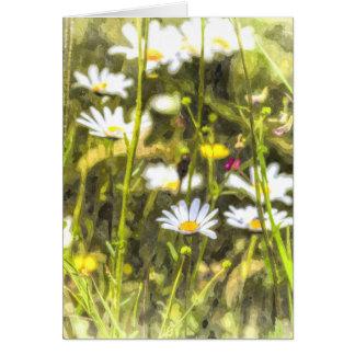 Cartão Aguarela da camomila