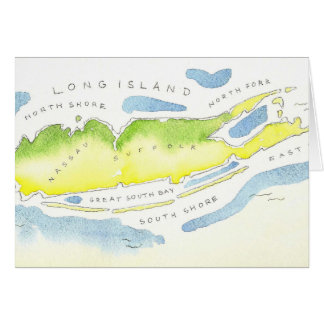 Cartão Aguarela de Long Island