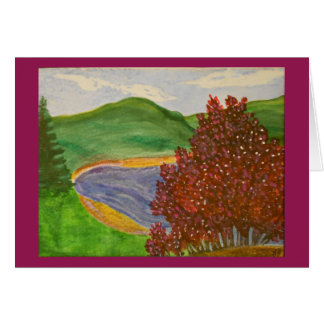 Cartão Aguarela de Redbud da montanha