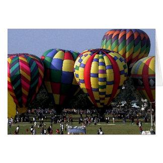 Cartão aguarela do balão de ar quente