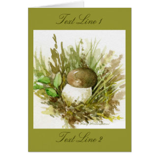 Cartão Aguarela do estudo do cogumelo após Beatrix Potter