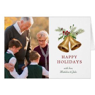 Cartão Aguarela do Natal | - visco & Bels do azevinho