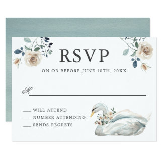 Cartão Aguarela esbranquiçado RSVP Wedding floral dos