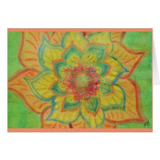 Cartão Aguarela floral abstrata vibrante
