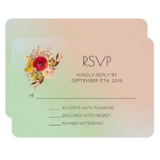 Cartão Aguarela floral bonito dos Wildflowers que Wedding