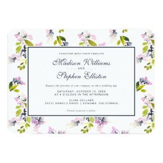 Cartão Aguarela floral delicada - casamento