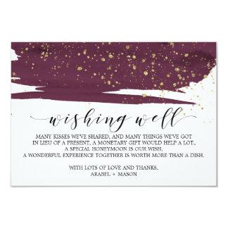 Cartão Aguarela Marsala e casamento do ouro que deseja