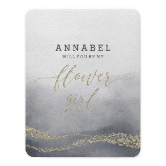 Cartão Aguarela no fumo você será meu florista