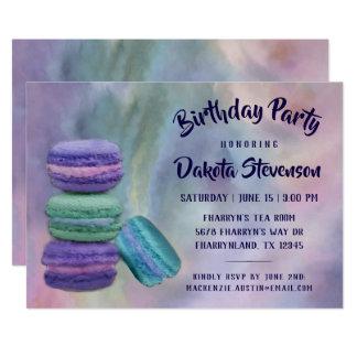 Cartão Aguarela Pastel francesa da festa de aniversário  