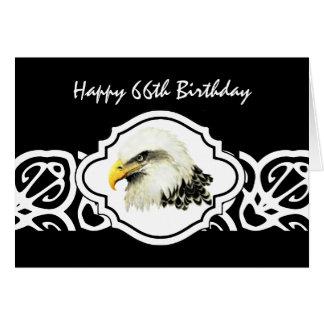 Cartão Águia americana velha resistente do pássaro do