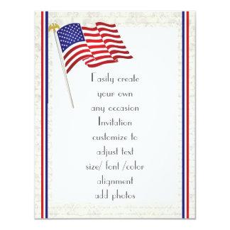 Cartão Águia e bandeira americanas patrióticas 2