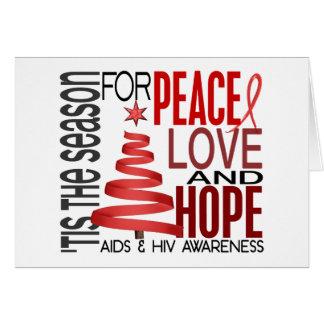 Cartão AIDS do feriado do Natal da esperança do amor da