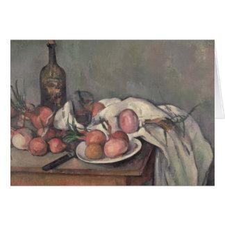 Cartão Ainda vida com cebolas, c.1895