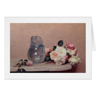 Cartão Ainda vida com rosas, 1889 (óleo em canvas)