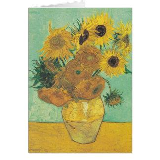 Cartão Ainda vida: Girassóis - Vincent van Gogh