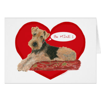 Cartão Airedale/namorados de galês Terrier