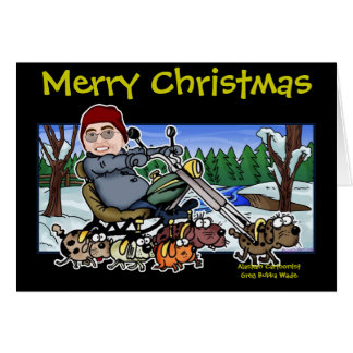 Cartão Ajudante Bubba Claus do motociclista do papai noel