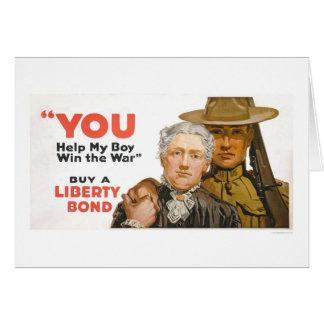 Cartão Ajude meu menino a ganhar a guerra - compre uma