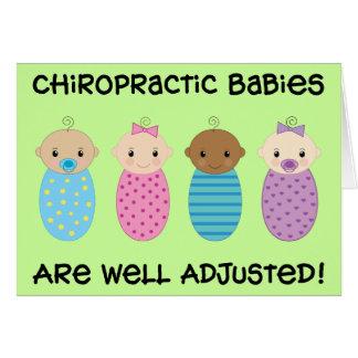 Cartão ajustado poço dos bebês