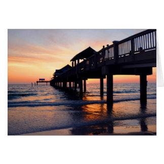 """Cartão """"Ajuste a noite praia de Clearwater à música"""","""