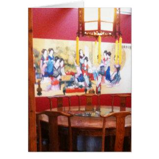 Cartão Ajuste chinês do restaurante