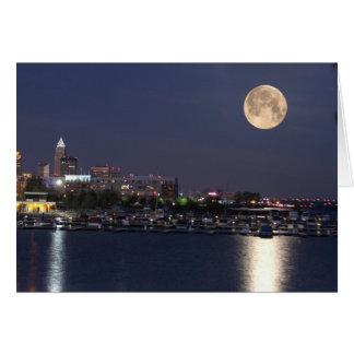 Cartão Ajuste super da lua em Cleveland, Ohio
