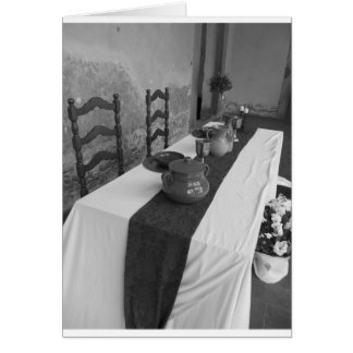 Cartão Ajustes da mesa para um banquete medieval do