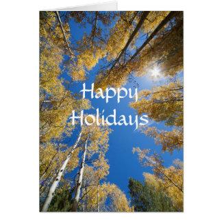 Cartão Álamos tremedores toda ao redor boas festas