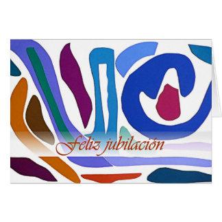 Cartão alaranjado azul da arte abstracta da