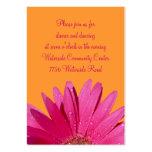 Cartão alaranjado & cor-de-rosa da recepção da mar