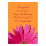Cartão alaranjado & cor-de-rosa da recepção da mar modelos cartoes de visitas