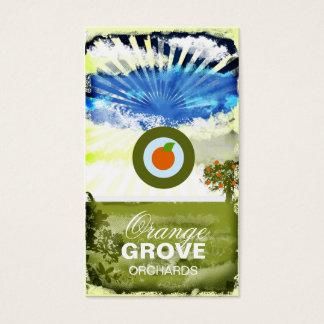 Cartão alaranjado do bosque do GC   com logotipo