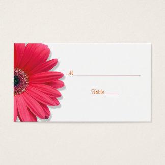 Cartão alaranjado do lugar do casamento da fita da