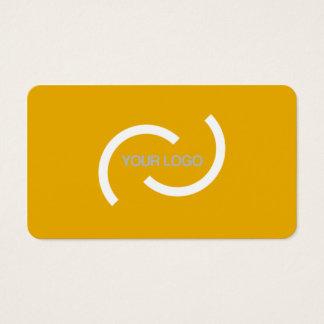 Cartão alaranjado elegante. Personalize com seu