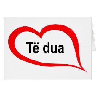 Cartão Albanês eu te amo