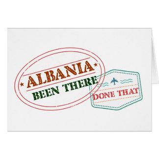 Cartão Albânia feito lá isso
