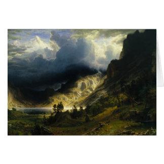 Cartão Albert Bierstadt - uma tempestade nas montanhas