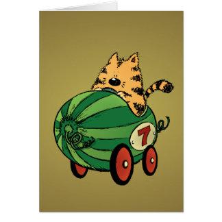 Cartão Albert e seu passeio da melancia