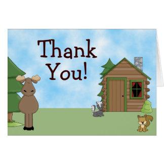 Cartão Alces bonitos, animais da floresta e obrigado da