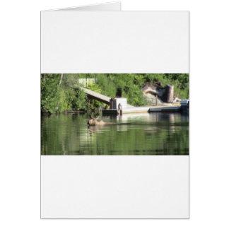 Cartão Alces da natação
